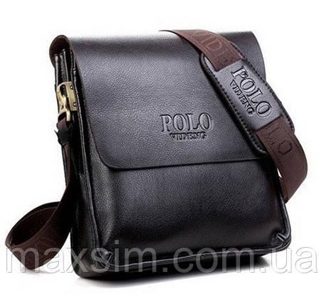 Мужская кожаная сумка POLO на ремне. Сумка-барсетка., фото 2
