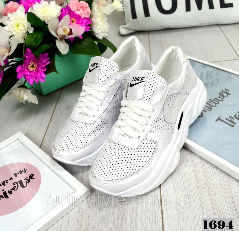 b1f50e2e Женские белые кроссовки Nik# натуральная кожа : продажа, цена в ...