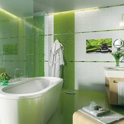 Декор Golden Tile Relax ЗЕЛЕНЫЙ 494341, фото 2