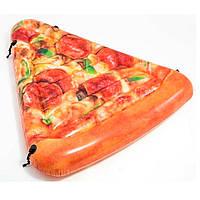 """58752 Матрас Кусочек пиццы"""" 175*145см, Надувной плот, Плотик матрас для плавания, Надувной матрас"""