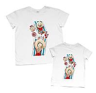 """Парные футболки для мамы и ребенка """"mom&baby"""" Family look"""