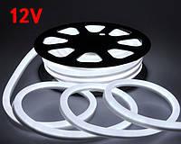 Светодиодный гибкий неон 12V белый холодный SMD 2835/120 IP65 Код.59555