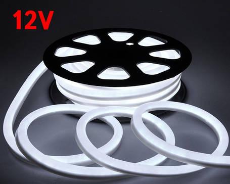 Светодиодный гибкий неон 12V белый холодный SMD 2835/120 IP65 Код.59555, фото 2