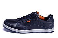 Чоловічі шкіряні кросівки  Ecco Wayfly Blue (репліка)