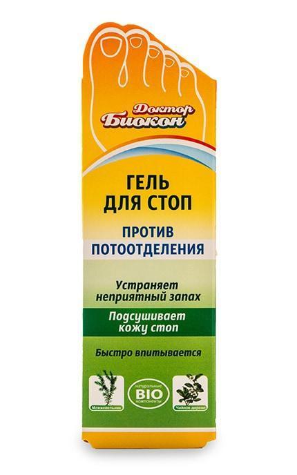 """Гель для стоп """"Доктор Біокон"""" проти потовиділення (75мл.)"""