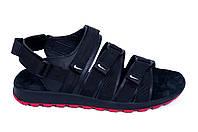 Чоловічі шкіряні босоніжки  Nike Summer life black (репліка)