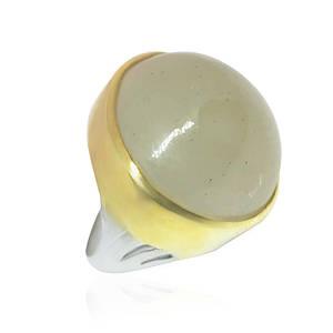 Кольцо серебряное с натуральным лунным камнем размер 18