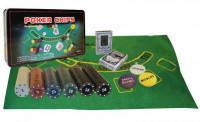 Покерный набор  Sports 300 фишек с номиналом + сукно (жестяная коробка) (OK-300), фото 3