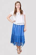 Красивая юбка на лето свободного кроя производитель Индия