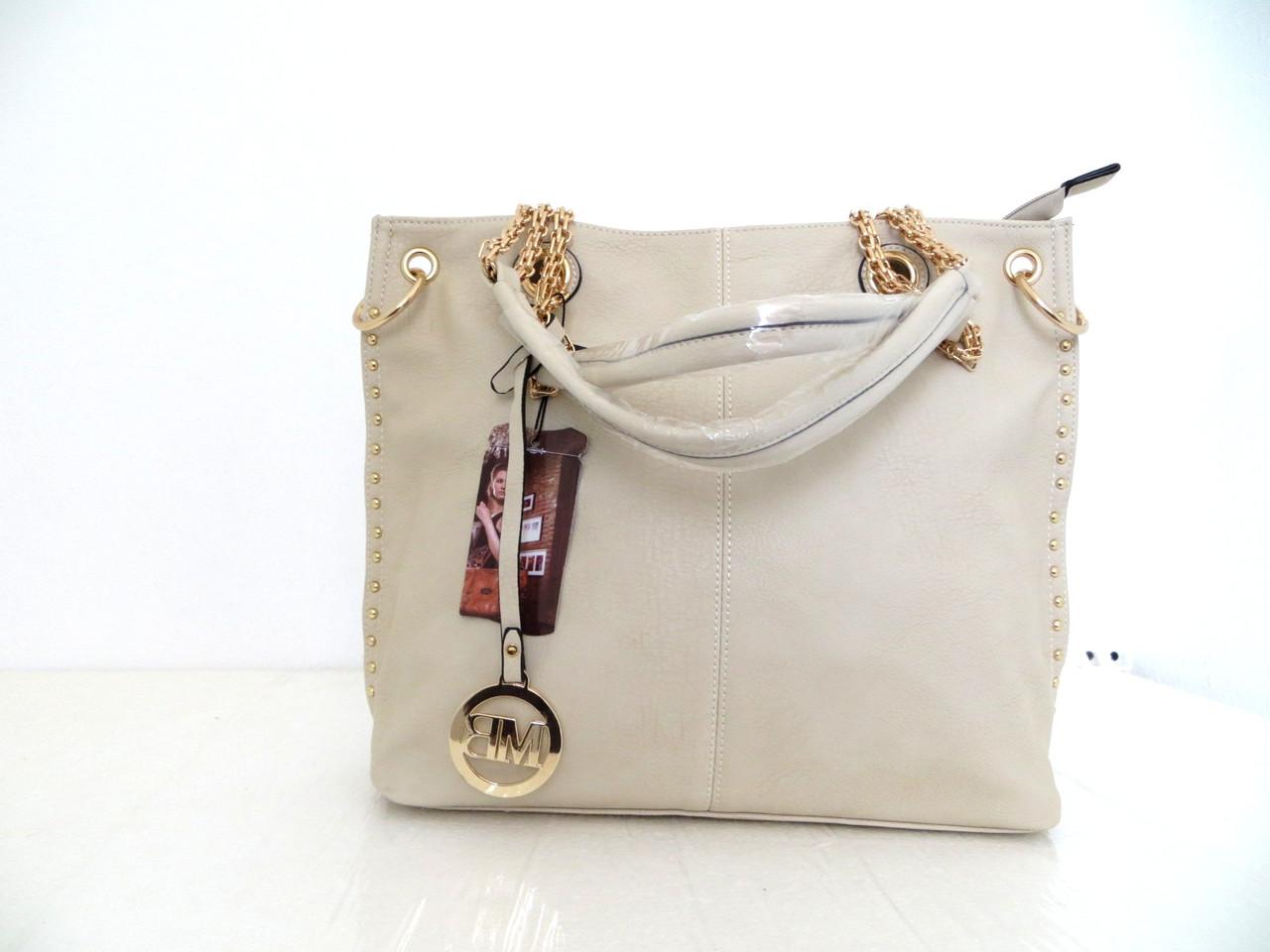 Вместительная летняя женская сумка. Эко-кожа.