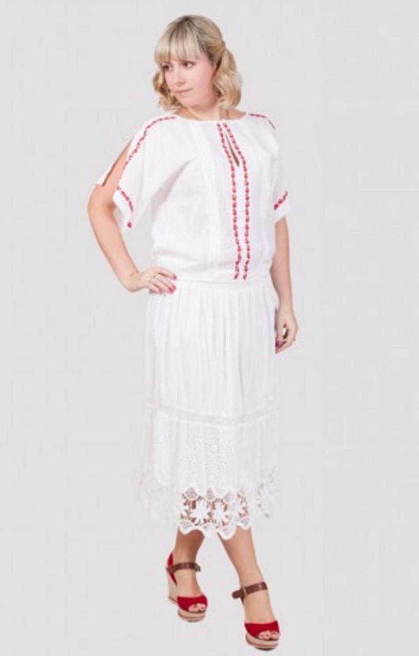 Праздничная женская юбка свободного кроя на лето