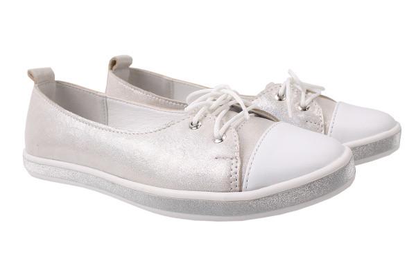 Туфли комфорт Best Vak натуральный сатин, цвет серебро