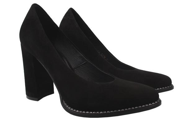 Туфли Nivelle натуральная замша, цвет черный