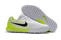 Сороконожки Nike MagistaX Finale II TF White/Black/Volt, фото 1