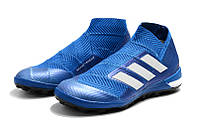 Футбольные сороконожки adidas Nemeziz Tango 18+ TF Football Blue/White/Football Blue, фото 1