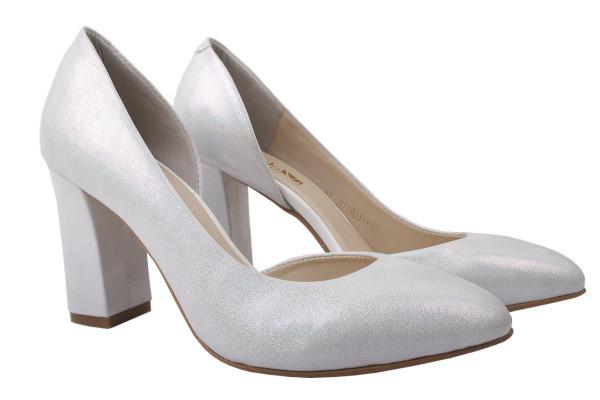 Туфли Angels натуральный сатин, цвет белый