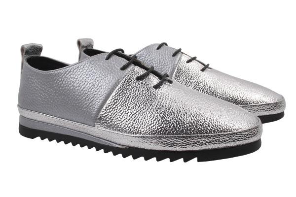 Туфли комфорт Aquamarin натуральная кожа, цвет серебро