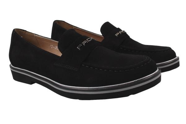Туфли комфорт Carlo Pachini натуральная замша, цвет черный