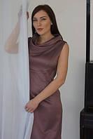 Платье Слива с хомутом