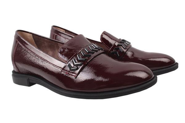 Туфли комфорт Geronea лаковая натуральная кожа, цвет бордо