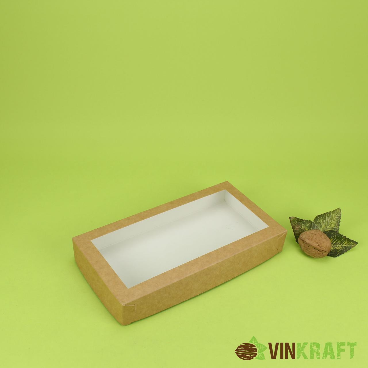 Коробка 210*110*30 для пряника з вікном, крафт