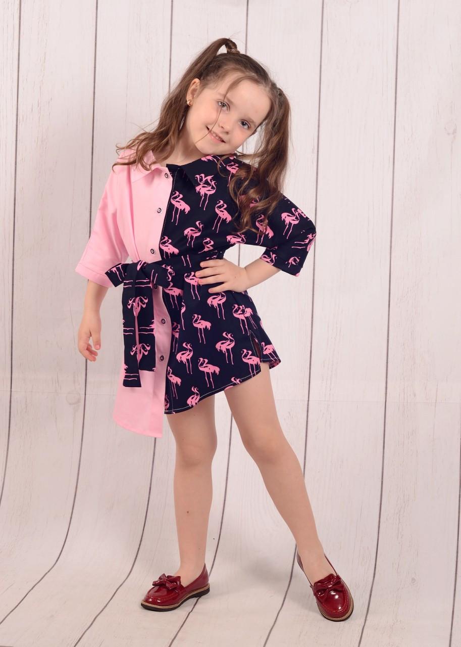 """Платье-рубашка на девочку (128-146 см) """"Style Kids"""" LM-779"""