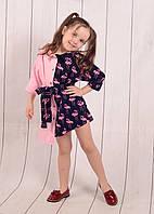 """Платье-рубашка на девочку (128-146 см) """"Style Kids"""" LM-779, фото 1"""