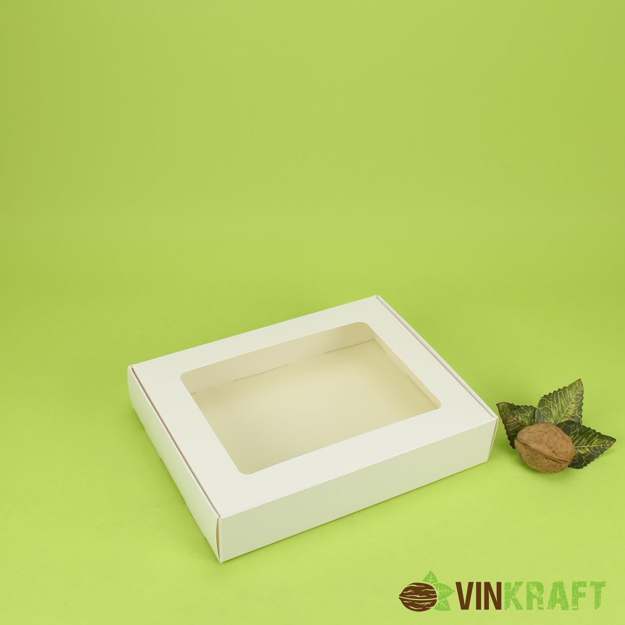 Коробка 192*148*40 для пряника з вікном, біла