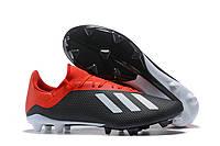 Футбольные бутсы adidas X 18.3 FG Core Black/White/Solar Red, фото 1