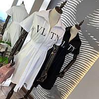 Женское платье с модной контрастной надписью в расцветках. Д-58-0419