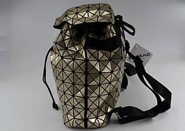 Рюкзак крутой BAO BAO космический стильный городской золотой ISSEY MIYAKE