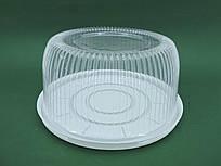 Одноразова пластикова упаковка для тортів, ПС-24, (V3500мл), 50 шт/пач