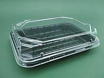 Упаковка для суши ПС-63ДЧ 16,8*11,5 вместе с крышкой ПС63К  (50 шт)