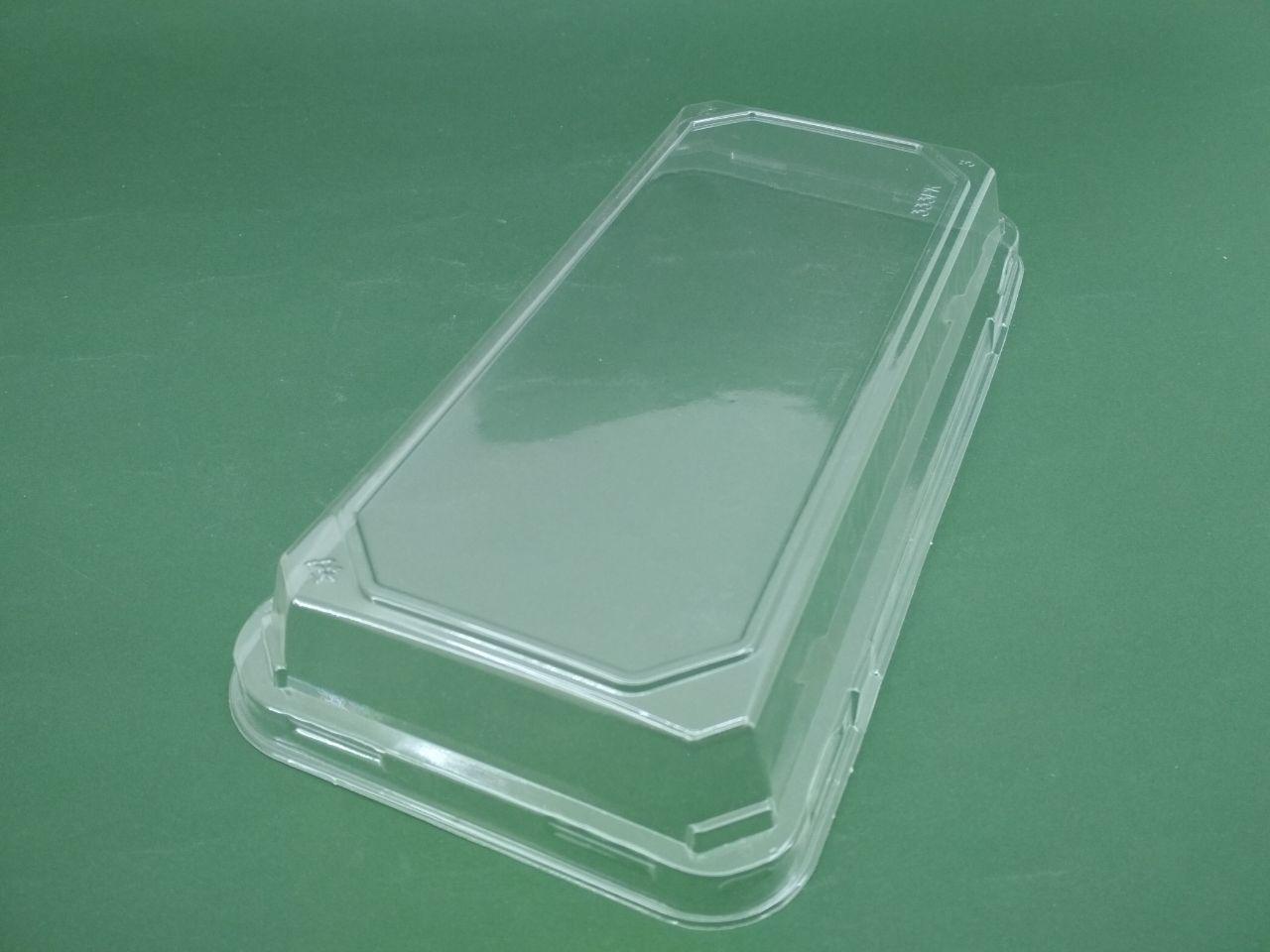 Крышка пластиковая SL333PK под контейнер для суши 333BL, (24,3/11/1,7), 50 шт/пач