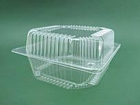 Одноразовый контейнер для продуктов с крышкой ПС-11 (V1250мл\155*155*80) (50 шт/пач)