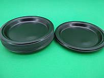 Одноразовая посуда тарелка черная 220мм, 25 шт\пач