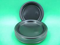 Одноразовая посуда тарелка черная 240мм, 50 шт\пач