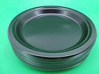 Одноразовая посуда тарелка черная 260мм, 50 шт\пач