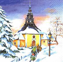 Декупажная салфетка Рождественская 7834