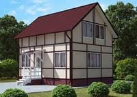 Строим под ключ модульный Канадский дачный дом в Днепропетровске