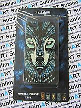 Дизайнерский чехол ручной работы для Iphone 5/5s soft-touch (Волк), фото 3