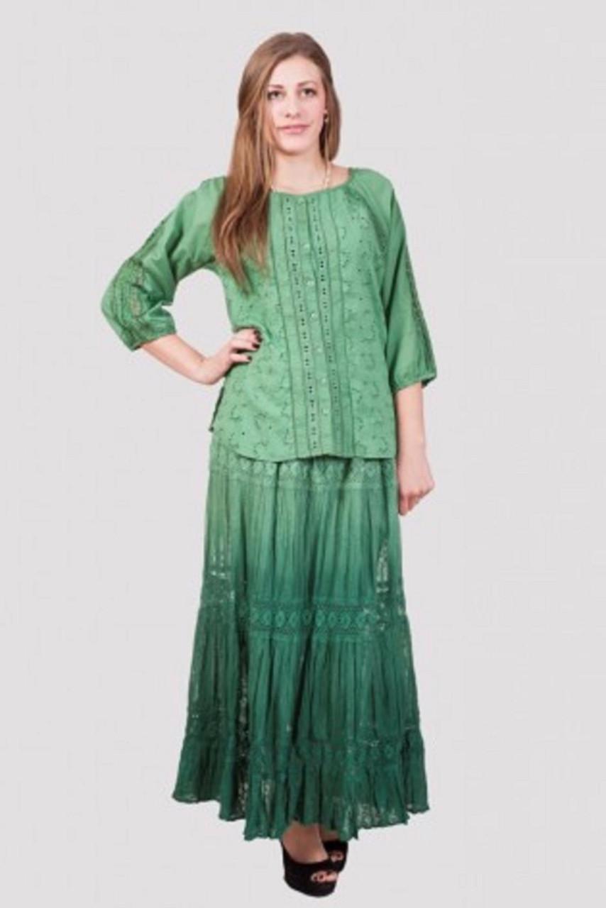 Яркая женская юбка модного кроя из натуральной ткани