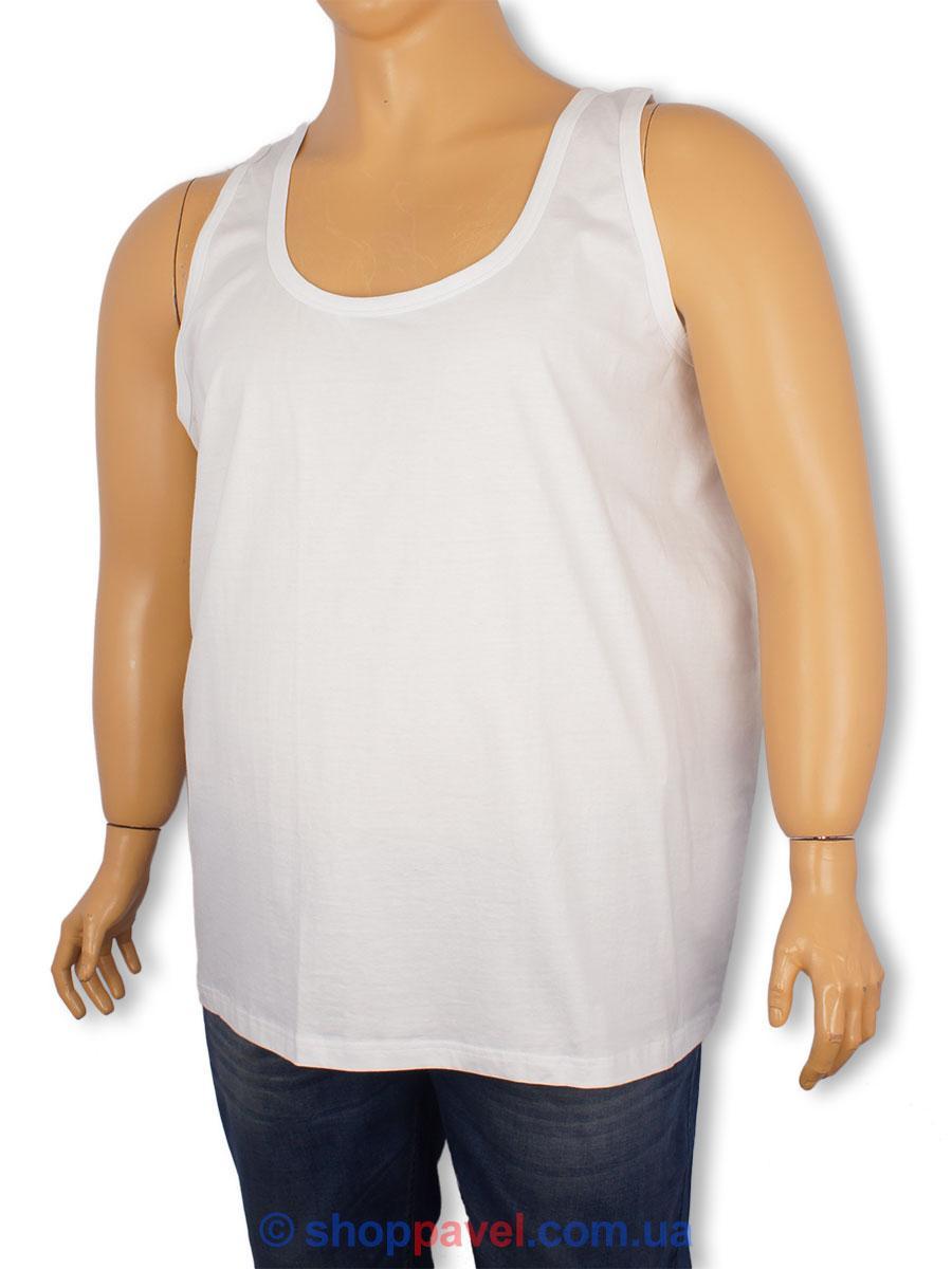 Белая мужская майка Dekons 9999B в большом размере
