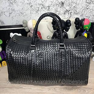 Кожанная сумка дорожная Bottega Veneta Large Duffel Bag  черная