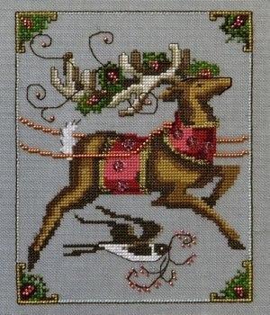 Схема для вышивки Cupid  Christmas Eve Couriers Nora Corbett Designs