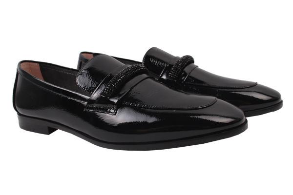 Туфли женские на низком ходу Maria Moro лаковая натуральная кожа, цвет черный
