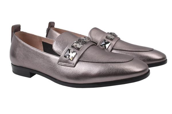 Туфли женские на низком ходу Maria Moro натуральная кожа, цвет платина