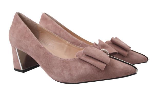 Туфли женские на каблуке Maria Moro натуральная замша, цвет капучино