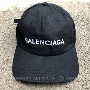 Бейсболка черная Balenciaga с широким козырьком