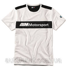 Оригинальная мужская футболка BMW Motorsport T-Shirt, Colour Block Design, Men, White/Black